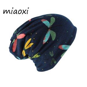 Miaoxi Automne adulte Skullies Bonnets femme chaude Casquettes Echarpes souple Cap d'hiver Head Caps Nouveau Femme Mode Hip Hop Gorros
