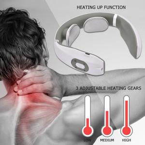 Pulso eléctrico USB masajeador cuello calefacción del infrarrojo lejano alivio del dolor Cuidado de la Salud Relajación herramienta inteligente masajeador de cuello uterino