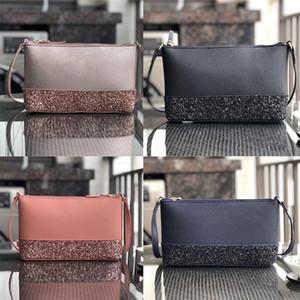 Donne KS Crossbodys Paillettes glitter Patchwork Bag della vita della cinghia Borse a tracolla moda Fanny zaini Borse Messenger Bag Zipper borsa C41703