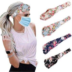Moda Maske Headband Düğme Karşıtı Sıkılaştırıcı Maske Tutucu Kafa Headwrap Koru Kulaklar Kayış Extender Şapkalar Saç Bandı CCA12103 Maske