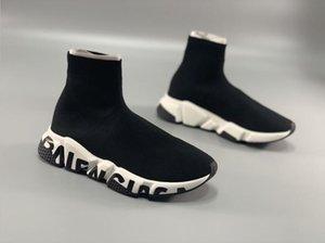 Good Quality Casual Shoes Fashion Men Women Brand Sock Boots Women New Slip-on Elastic Cloth Speed Trainer Men Designe Shoes Size EUR 36-45