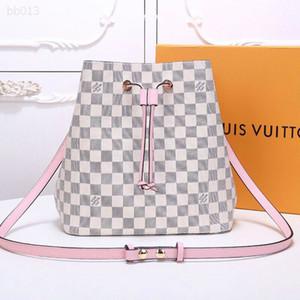 Sevimli Moda Çanta İpli Bayanlar Namlu şeklindeki Çanta Kepçe Çanta Crossbody Omuz Çantaları Orta Boyut Taşınabilir Damalı İçin Kız Casual