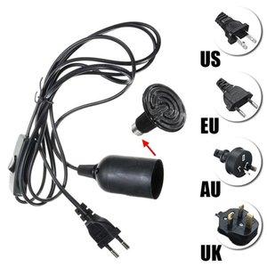 2M كابل E27 قاعدة مصباح المقبس ضوء حامل للالزواحف السيراميك الحرارة بالأشعة تحت الحمراء باعث لمبة ضوء مصباح الاتحاد الأوروبي الولايات المتحدة المملكة المتحدة الاتحاد الافريقي التوصيل