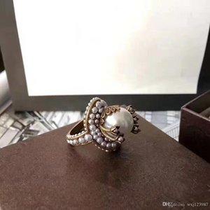 di alta qualità europei e americani personalizzato calde di vendita di perle signore anelli firmati selvatici gioielli dal design di lusso delle donne anelli