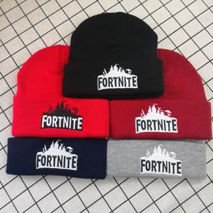 Fortnite chapeaux 23 styles Fortnite Beanies Fortnite bataille Bonnet en maille Hip Hop broderie Tricoté Caps Adolescent Hiver chaud Crâne Beanies