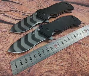 """Zero modelo de tolerância 0350TS auxiliar faca aleta 3,25"""" S30V listra do tigre lâmina comum, alça G10 preto, produto original, aço, caixa, homem"""