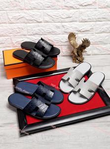 Hermes slippers 2020 الموضة الجديدة الصنادل للرجال جلد الرجال أحذية الشاطئ النعال مريحة الأعلى جودة Xshfbcl رجل الوجه يتخبط النعال