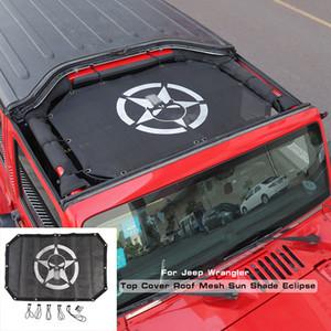Frente coche sombrilla del acoplamiento de Protección Solar Red Roof sombra para Jeep Wrangler JK 2007-2017 Auto Accesorios Exterior