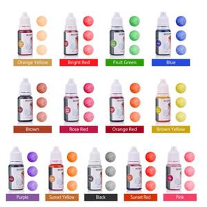 13 цветов Жидкое мыло Dye Kit Grade кожи Безопасный глютена Vegan Liquid Ванна Бомбы Краситель Set Лучшее мыло Dye DIY Kit Изготовление