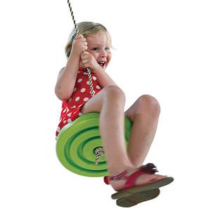 Crianças Slackers balanço Assento de incandescência Noite Riderz Led Disc Flying Saucer balanço Set Com Zipline Outdoor Brinquedos disco voador