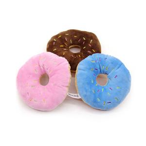 hot Plüsch Donut Spielzeug-Haustier-Plüsch-Spielzeug-Ankunfts-nette Haustier-Spielzeug-Katze Schrei Quack Spielzeug kaut Donut Haus Hund liefert T2I5747