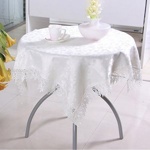 European Embroidery Table Cloth Lace Polyester Tablecloths Square Table Dinner Runner Garden Home Decor Textiles