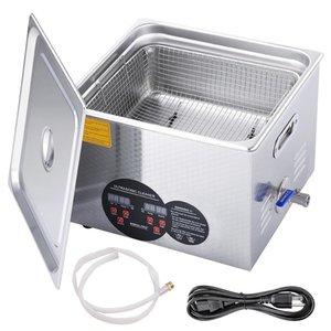 Gran limpiador ultrasónico 15L joyería calentador temporizador soporte Industria Lave los vasos