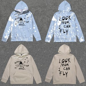 Travis Scott Astroworld Fest Graffiti Tour-Merch Hoodies Schauen Mom I Can Fly Digital gedruckte Sweater Sudaderas T200407