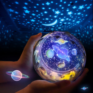 Magic-Universum-Projektions-Lampe Kreative 3D-Sternenhimmel LED-Projektor-Lampe Bunte Nachtlicht-Lampe für Kinder Weihnachtsgeschenk