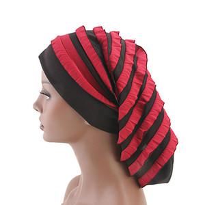 Nouvelle Femme Turban Chapeau Élastique Tissu Dreadlock Chapeau Bonnet Dames Accessoires De Cheveux Inde Chapeau Écharpe Chapeau Perte De Cheveux Tête Écharpe Wrap