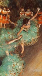 Edgar Degas Dançarino verde 1880 Handpainted impressionista da arte do retrato da pintura a óleo tamanho P217 Wall Art Home Decor sobre tela multi 200314