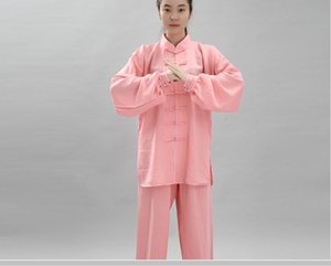Men's and women's middle-aged and elderly Tai Chi clothing, natural linen outdoor sportswear, multi-color optional performance clothing