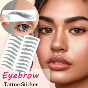 Magie 4D cheveux comme Sourcils autocollant de tatouage Faux Sourcils Long Lasting étanche Stickers Sourcils Outils de maquillage
