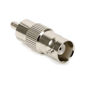 BNC hembra a RCA macho coaxial adaptador de acoplamiento Conector de cable para el sistema de vigilancia de seguridad CCTV Cámara de audio