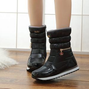 Eillysevens Femmes Plate-forme Bottes de neige mi-mollet Lined bottes imperméables neige chaude de estilosas de Botas 2019 # G35