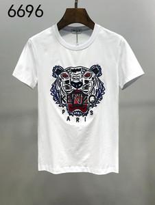 KenZ0 gama alta y noble Carta clásico del nuevo estilo Hermosa camiseta de Hip Hop Moda Hombres Mujeres Tees