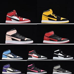 1S ALTA OG BT TD SOMBRA infantiles de los zapatos de baloncesto de los niños criados INVERSA nuevo amor Niños zapatillas de deporte Niños Niñas CORTE PURPLE Formadores