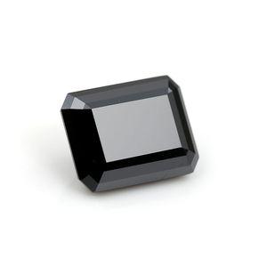 Popular novo estilo esmeralda preto corte 4CT 10x8mm moissanite diamante solto