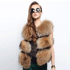New Arrival Female Gilet Fashion Women Faux Fur Vest Faux Raccoon Dog Fur Short Vests Coat Female Waistcoat PC147