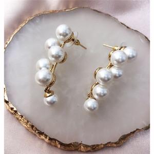 Paris design di lusso Gioielli perla delle donne orecchini svegli dell'uva perle orecchio orecchini Designer Stud famosi