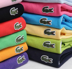 LACOSTE Venta de la alta calidad cocodrilos del polo hombres camisa de manga corta de algodón sólido de verano Polo Homme T-camisas para hombre camisas de polos Poloshirt CYE01