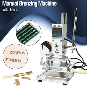 DHL Free! ZS-100B Dual Use Hot Foil Stamping Machine For Pvc Card Leather Pencils Paper Heat Press Machine