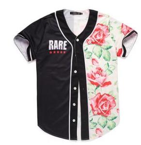 Günstige 3D Kurzarm T-Shirt Männer Baseball Trikots Sport Slim Fit V-Ausschnitt T-Shirts Casual Streetwear Trendy Style Gute Qualität