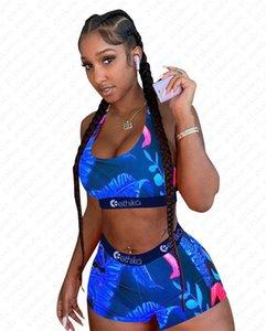 Del progettista di marca Stripes foglia fumetto del costume da bagno Stampa Swimwear reggiseno push up carro armato della maglia Pantaloncini da bagno 2pcs donne Bikini Beachwear D5610