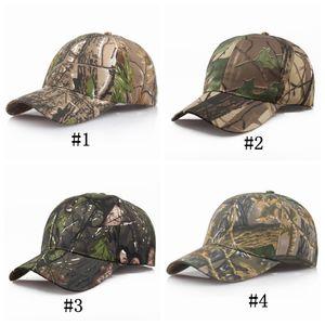 Erkekler ve Kadınlar Snapback Kap Sunshade Çift Beyzbol Şapkaları Turist Kamuflaj Balıkçılık Topu Şapka Kamp Ekipmanları için 4 Renkler ZZA1045