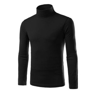 2019 New Autumn Winter Men'S Sweater Men'S Turtleneck Solid Color Casual Sweater Slim Fit Brand Knitted Pullovers XXL