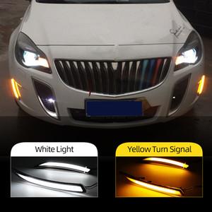 2adet Otomobil için LED DRL için Buick Regal GS Opel Insignia 2010 2011 2012 2013 2014 2015 Sis Kapak Gündüz Işıklar Setleri