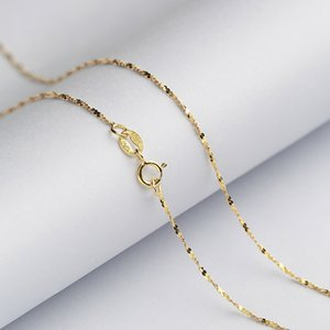 Starry Brilliant 1.2 MM Sterling Silver Chain Solid 925 Italy Necklace 16 & 18 Inches White Rose Yellow Gold Color
