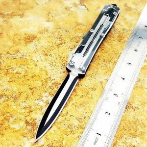 ut121 121 Transparent tanto D / E lame à double action d'auto défense tactique pliage des couteaux de chasse couteau de camping couteau edc noël