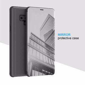 Official Smart Window Wake Up Flip Case Mirror Leather Wallet Case For Iphone XR XS MAX For Samsung Galaxy Note 9 S10 Plus E