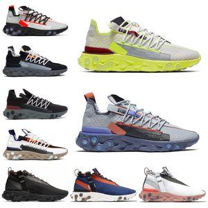 React LW WR Mid ISPA Men Running Shoes Ghost Aqua Anthracite Blue Orange Gun Smoke Volt Women Mens Trainers Sports Sneakers 36-45