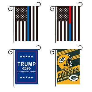 Donald Trump Garden Flag 12 * 18 Inch Oxford Cloth Festival Decor Bandera impresa Keep America Great USA Star Striped Flags Banner BH2258 TQQ