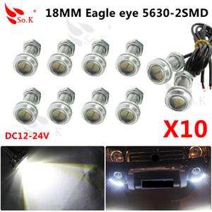 10pcs 18mm LED Eagle Eye luz DRL Daytime Running Lights 5630 SMD que invierte el respaldo Aparcamiento impermeable de la lámpara auto de la luz de niebla