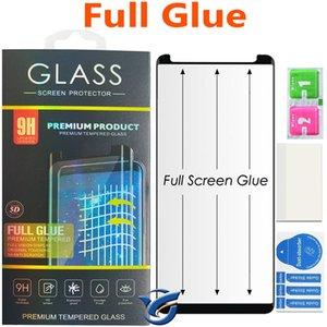 كامل الزجاج المنحني لسامسونج غالاكسي s10 S9 زائد S8 S8Plus Note8 Note9 5D منحني الحافة كامل غطاء الزجاج المقسى حامي الشاشة