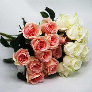 Искусственный Carter роза 12 голов 1 букет розы цветок украшение дома помпон поделки Шелкового букет свадьба ваза Flores artificiales Florals Deco
