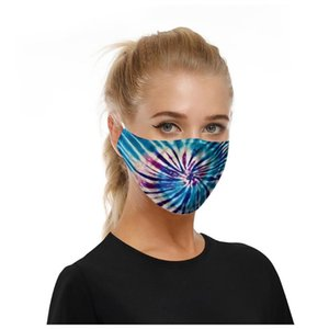 5 Pcs Cotton Face Maskswashable And Reusable Facemask Unisex Print Breathable Cloth Masks For Germ Protection PM2.5 Bylima Scarf