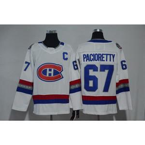 Mens Canadiens de Montréal 100 ° Anniversario Max Pacioretty casa lontano Hockey Bianco Rosso Jersey tutti i giocatori