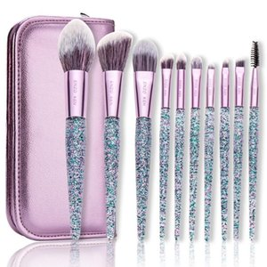 Maquillage pourpre Pinceaux ENZO KEN 10Pcs Fondation pinceau blush Blending fard à paupières maquillage Brush Set