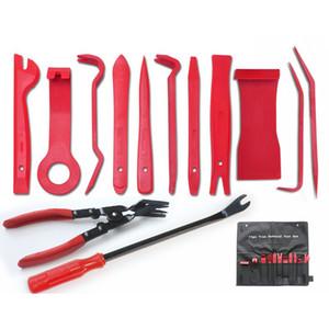 13PCS / Lot Car Auto estofos Revisa Ferramentas clipe de áudio Painel Alicates Fastener Remover Porta desmontagem e montagem Kits Set