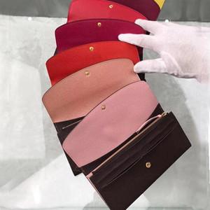 2019 en gros et au détail portefeuille standard en cuir de mode portefeuille à long portefeuille zippé sac porte-monnaie multicolore